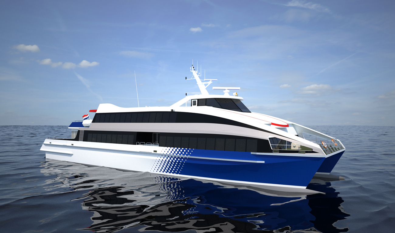 Fast Ferry 40 knots at operational deadweight