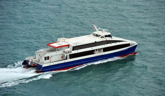Efficient and proven catamaran design.