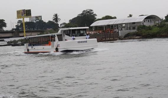 Damen Ferry 1806 in its habitat Abidjan