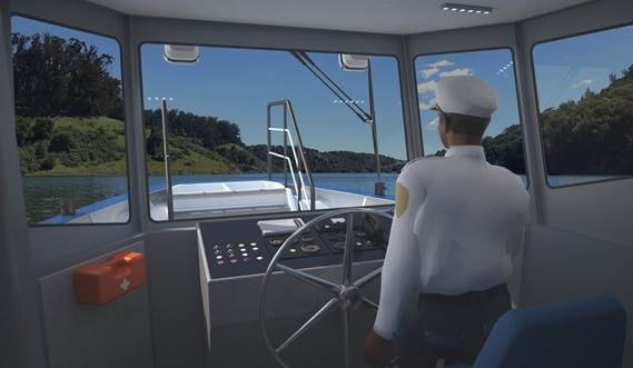 Damen Ferry 2206 wheelhouse