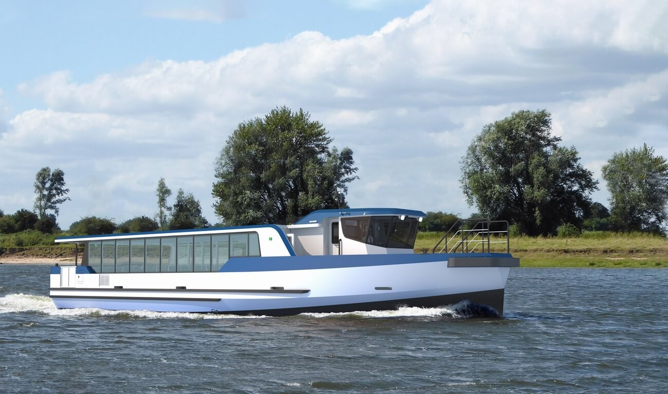 The Damen Ferry 2206 is designed for public transport on inland waterways. The vessel provides a safe and reliable crossing.