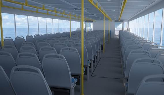 Damen Ferry 2806 Interior frontside view