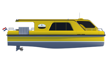 The Damen Water Taxi 1606 is a powerful and attractive solution for comfortable and efficient water taxi services.