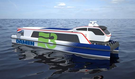 Electric powered Damen eco Water Bus