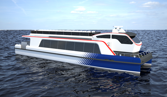 The Damen Waterbus can be customised in many different ways