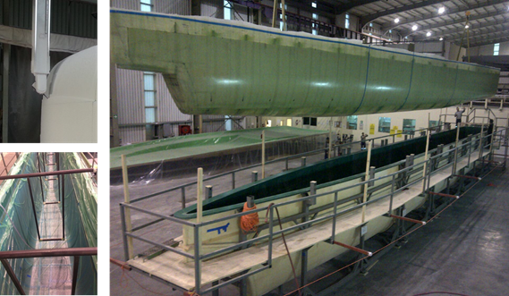 Water buses composite modules production at Damen