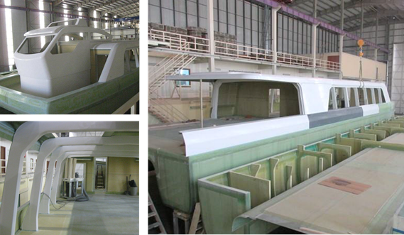 Composites assembly of Damen Water Buses