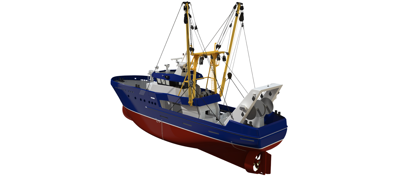 Beam Trawler 3608 provides fishing efficiently in rivers