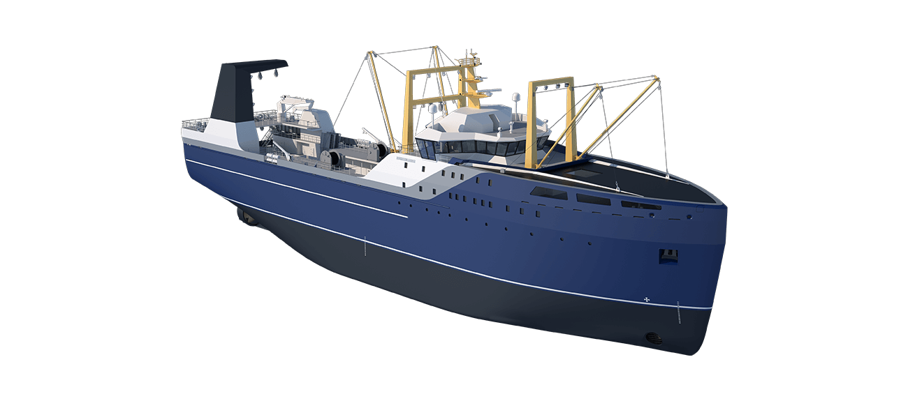 Damen Factory Trawler 105 perspective front SB