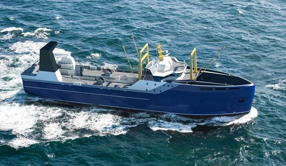 Excellent loading capacity, fuel efficiency and seakeeping characteristics.