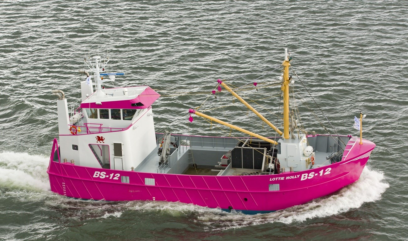Dedicated design for mussel catching and pretty in pink.