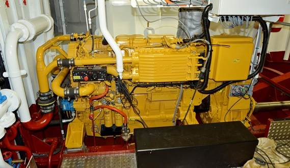 Propulsion is provided by two Caterpillar C-18TA diesel engines with Reintjes reduction gearboxes.