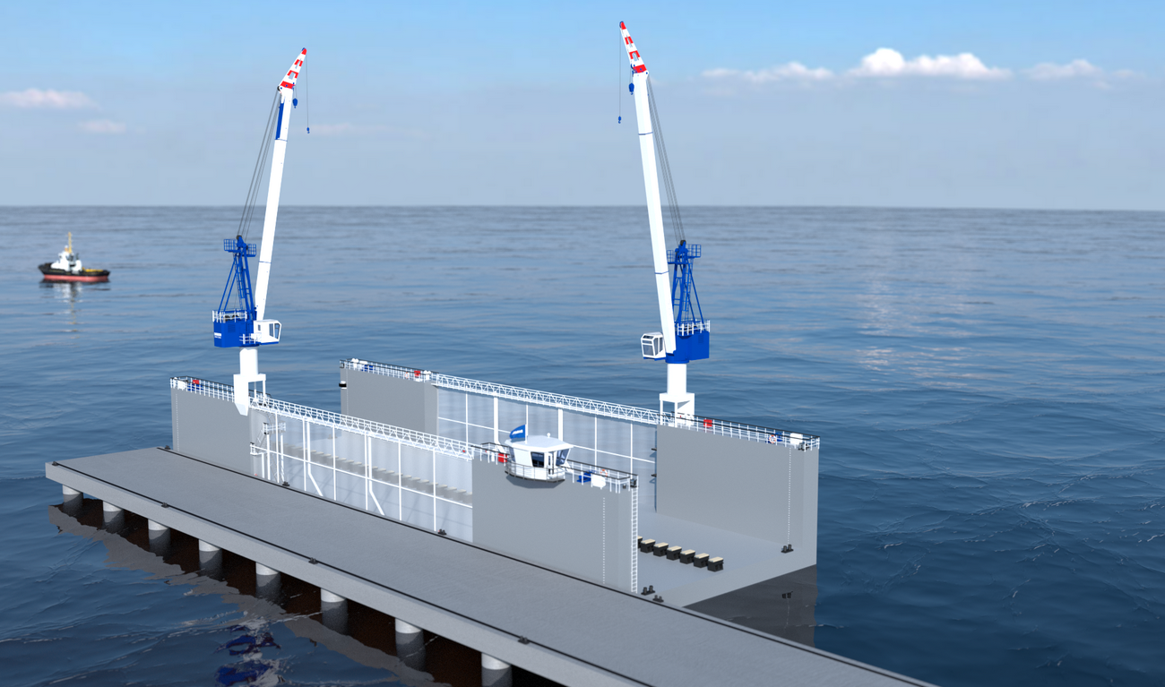 Floating Drydock 7020 for vessels up to 1,750 t and up to 50 tonnes per metre keel load