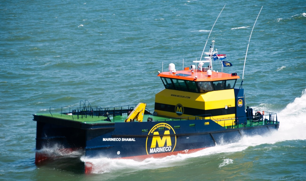 Purpose-built for the transport of crew or material, quickly and safely in rivers, harbours, coastal waters and offshore, the distinctive Damen Fast Crew Suppliers