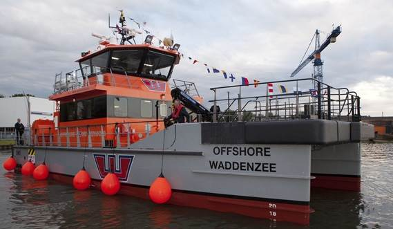 The FCS 2008 is a very capable vessel for working on an offshore wind construction project close to shore
