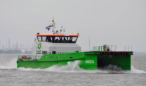 elgium-based DEME Group took delivery of two Damen Fast Crew Suppliers 2610, 'Aquata' and 'Arista'