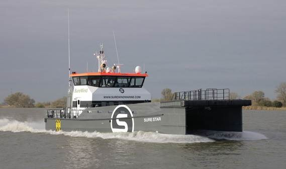The first of two Damen FCS 2610s was handed over to UK company Sure Wind Marine