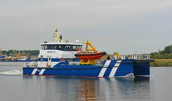 Damen Maaskant Shipyards Stellendam delivered the first Fast Crew Supplier customized with offshore
