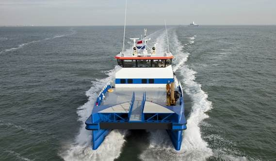 Dutch company Offshore Wind Services B.V. is the first to order the new Damen Twin Axe Fast Crew Supplier 2610