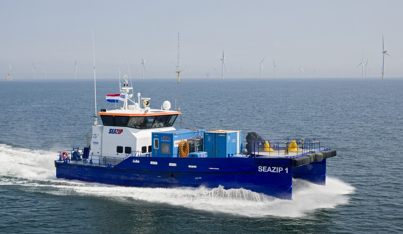 26 m length High Speed Catamaran 2610 for offshore wind farm