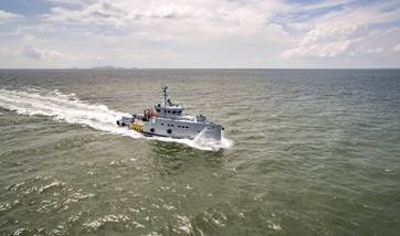 A Damen 3307 Patrol Vessel has been delivered to Homeland Integrated Offshore Services Ltd (Homeland) of Lagos, Nigeria
