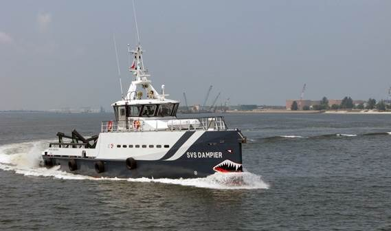 two Damen Fast Crew Supplier 3307s, 'SVS Dampier' and 'SVS Monck', were delivered to Specialised Vessel Services in Kenya