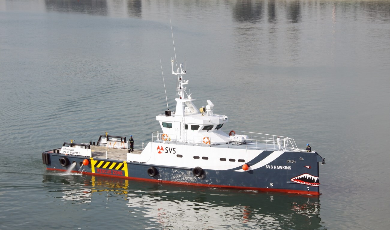 the Damen Fast Crew Supplier 3307 'SVS Hawkins' was added to the fleet of Specialised Vessel Services in Kenya