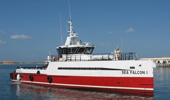 'Sea Falcon I' was successfully handed over to the National Marine Dredging Company in Abu Dhabi