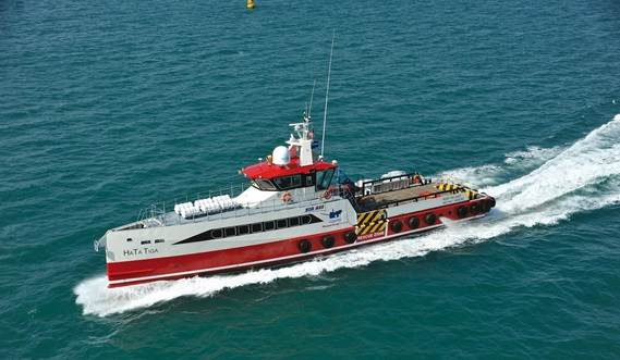 The vessel is fuel-efficient and has everything needed to fulfil all duties.