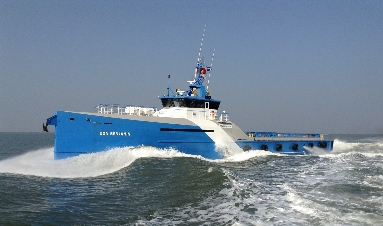 Damen Shipyards delivered the 'Don Benjamin' to its Mexican client Naviera Integral