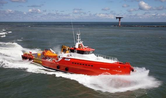 Following the successful delivery of a series of three Damen Fast Crew Suppliers 5009 to Abu Dhabi National Oil Company