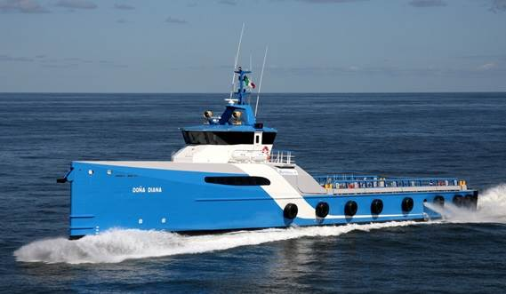 The combination of superior seakeeping and the position of the wheelhouse results in the highest possible level of operability.