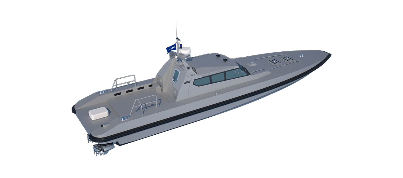The dependable hard-chined, non-stepped hull design guarantees predictable and safe operations at high speed