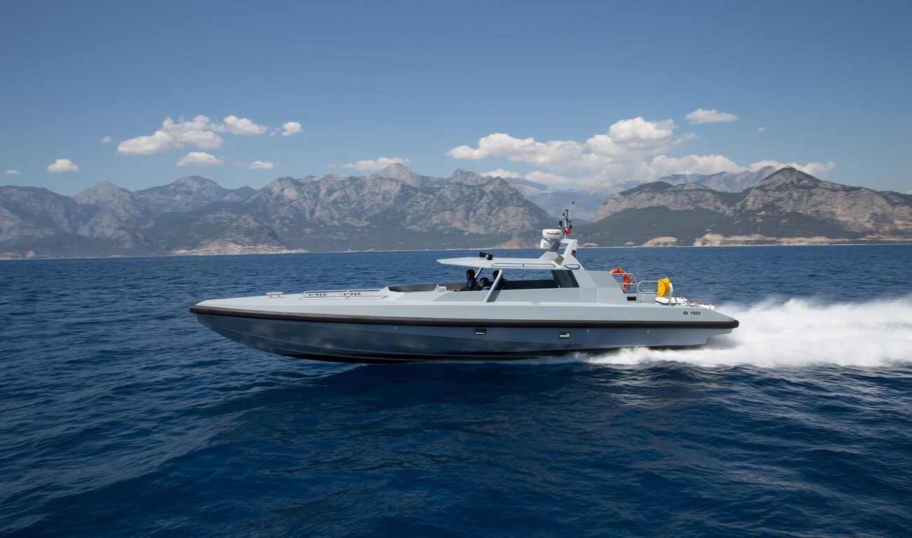 THIS ULTRA-FAST VESSEL IS THE BEST CHOICE FOR ANTI-SMUGGLING OR ANTI-TERRORIST OPERATIONS