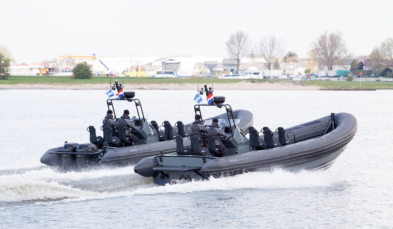 Damen RHIBs at sea trials