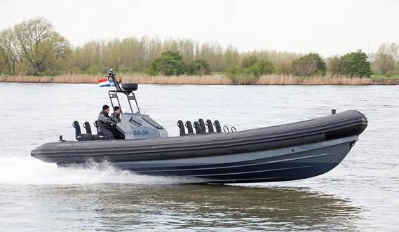 Damen standard RHIB at sea trials