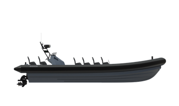 The Damen RHIB is designed for high-speed patrol duties in all waters.