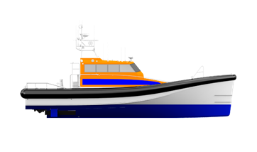 As should be expected from a rescue boat, this design will self right within seconds after a capsize or even a 360° roll