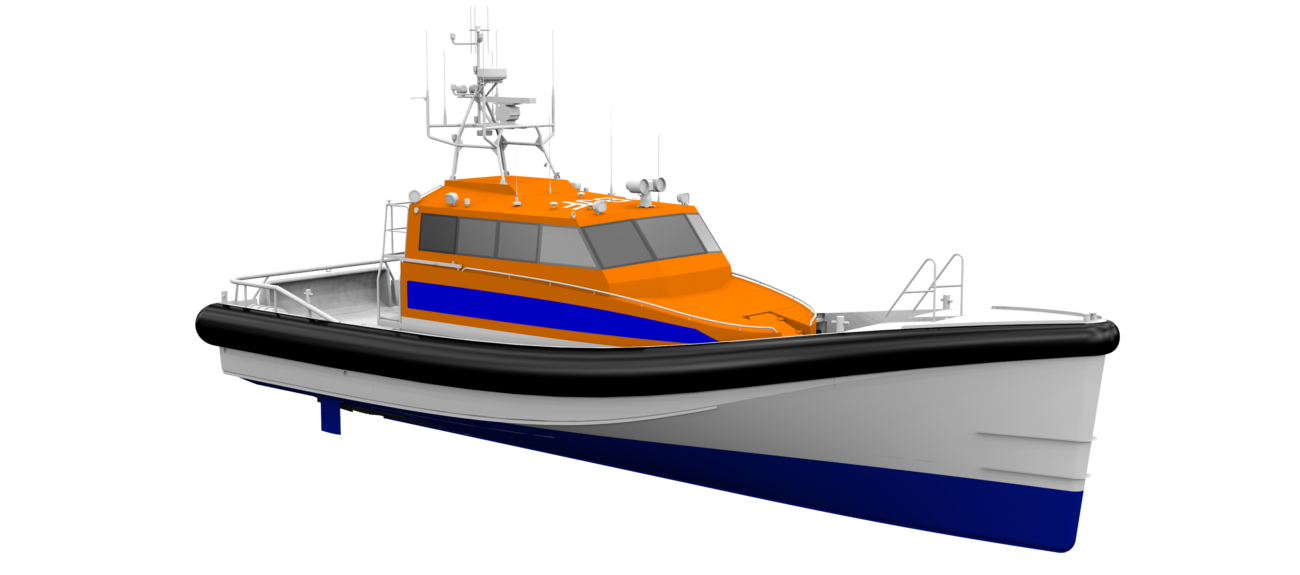 This boat was developed in close cooperation with KNRM, the Dutch National Sea Rescue Organization
