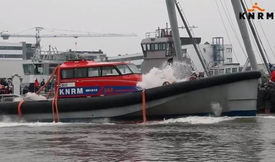 The newest lifeboat NH 1816 KNRM has endured at Damen Shipyards in Gorinchem