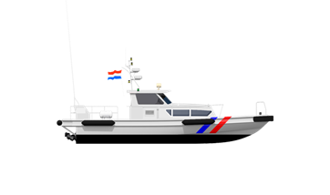 This patrol boat is derived from a Damen crew boat, of which around hundred are in service
