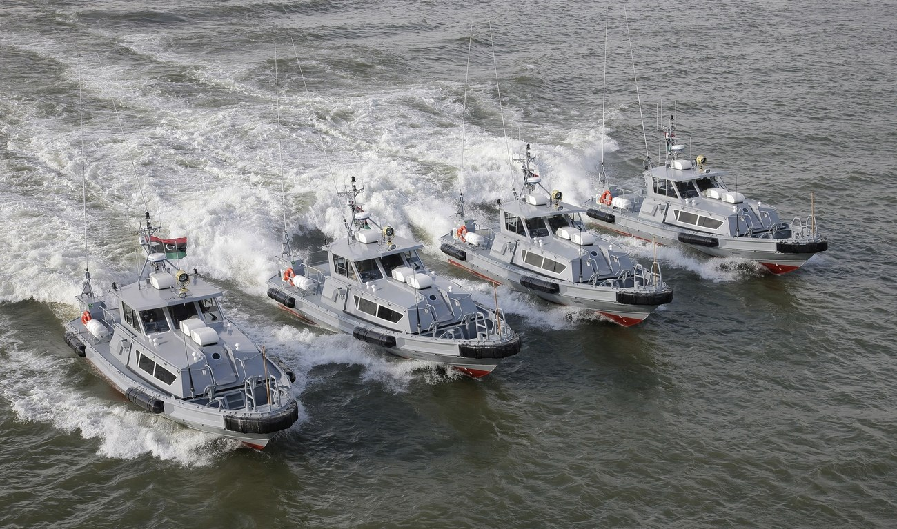a series of four Damen Stan Patrol 1605s, were delivered to the Libyan Government for coastal protection duties
