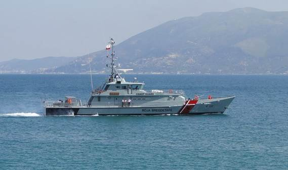 The first vessel, 'Oriku', locally built in Albania out of a DTC (Damen Technical Cooperation) material package