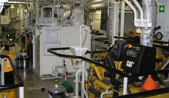 The Engine Room of Damen Stan Patrol 5009
