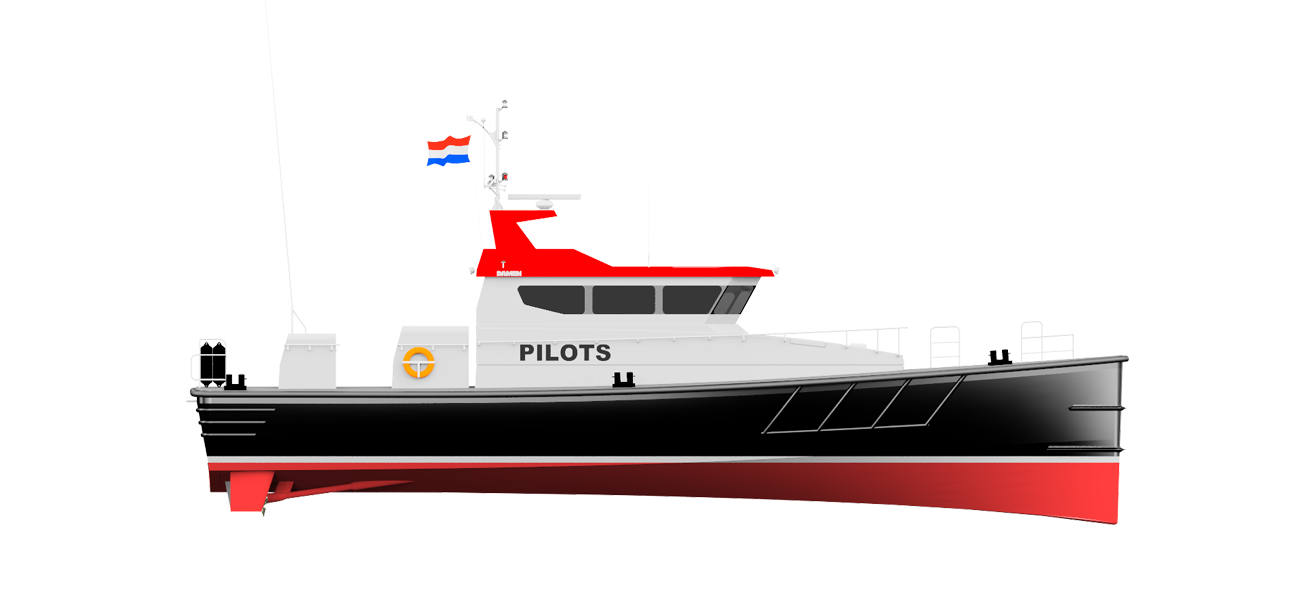 As pilot boats in most cases do not require accommodation, there is ample space for the engines - making maintenance easy