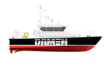 Designed and built as a strong workboat, the 1505 is built in aluminium for high speed operations