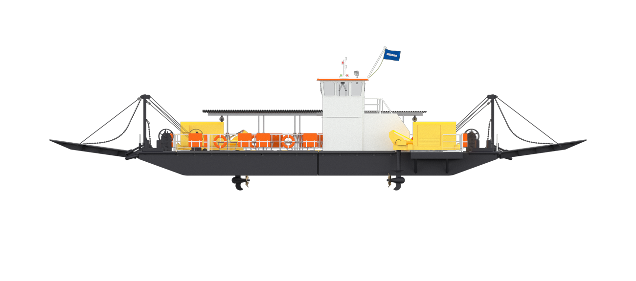 An entire Modular Ferry is configured out of container sized units
