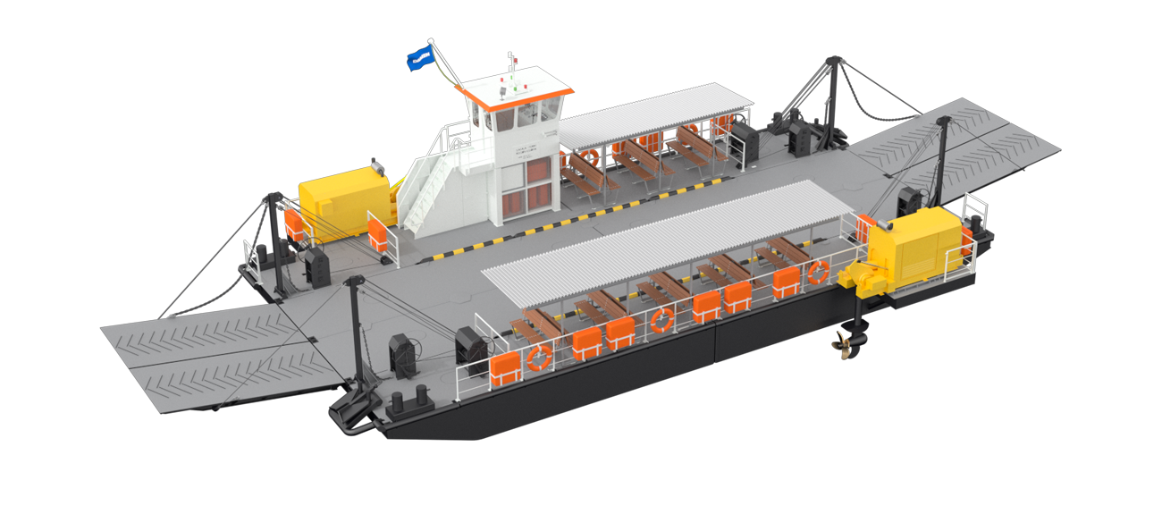 Easy access of Modular Ferry allows good and safe maintenance, resulting in reliable and predictable operations