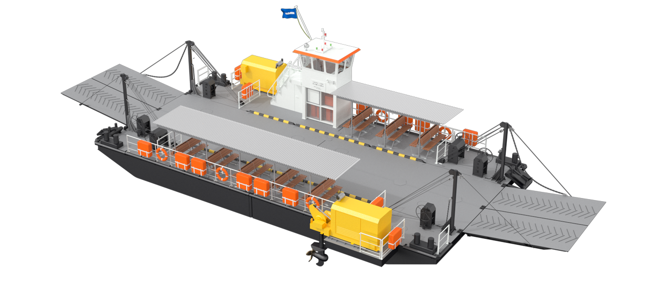 The modular system of Ferry allows efficient modification of the design, now and for future operations