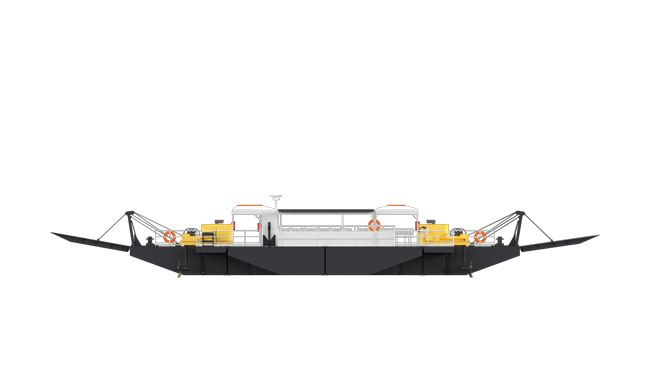 Damen Modular feery with 32 m length for 210 passengers